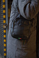 Сумка на плечо, барсетка, мессенджер Пума, стильный, цвет черный, фото 1
