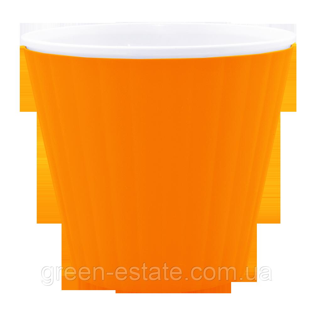 Вазон Ибис с двойным дном 1,6 л оранжевый
