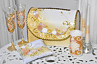 Свадебный набор аксессуаров Bonita в Золотом цвете 7 предметов
