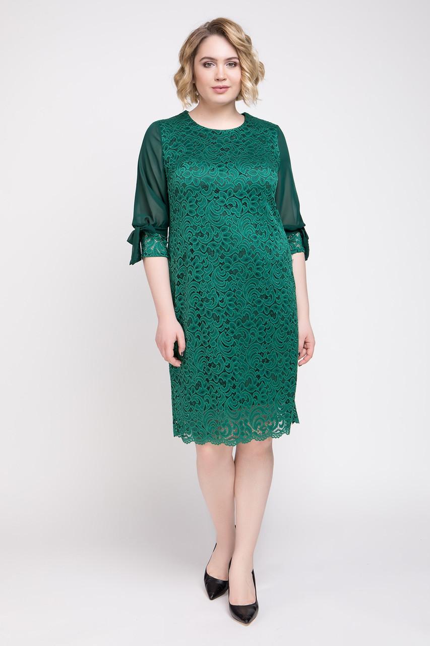 Платье Джайра 52-60 малахит