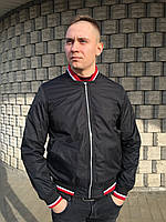 Мужской бомбер куртка ветровка короткая на резинке