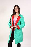 Стеганное пальто мята