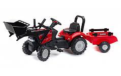 Дитячий трактор на педалях з причепом і ковшем Falk 961AM Case IH від 2 до 5 років
