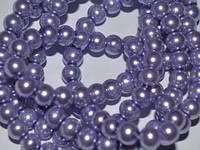 Бусина керамическая жемчуг 6мм, нить 150 бусин, фото 1