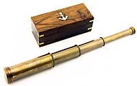 Подзорная Труба Бронзовая в Деревянном Футляре 40 см