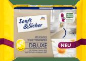 Sanft & Sicher Feuchtes Toilettenpapier Deluxe Kamille влажная туалетная бумага Делюкс Ромашка 50 шт.