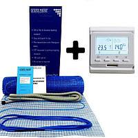 Теплый пол Grand Meyer 1 м2 нагревательный мат 180Вт/м2 + терморегулятор E51