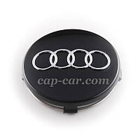 Колпачки для литых дисков Audi черные 60 мм