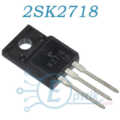 2SK2718, MOSFET транзистор N канал, 900В, 2.5А, TO220F