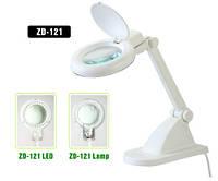 Лупа-лампа с LED посветкой ZD-121, 3+ 8-и кратное увеличение, диаметр линзы-90мм
