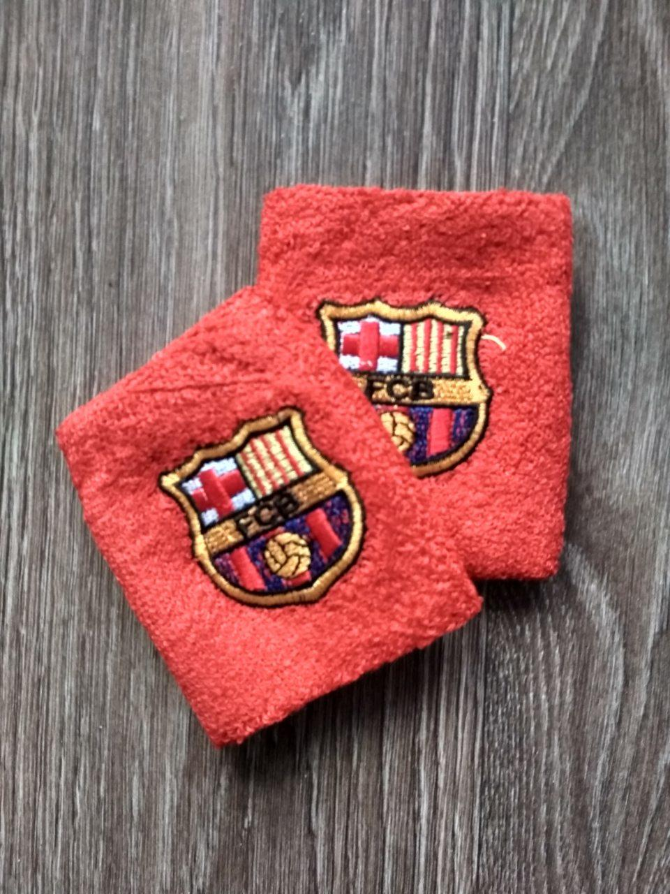 Напульсник красный Барселона