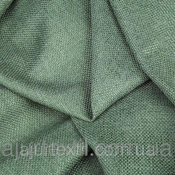 Штора лен зелень