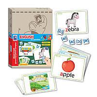 Детская обучающая развивающая игра - Английский язык на магнитах и с карточками, VT3701-08