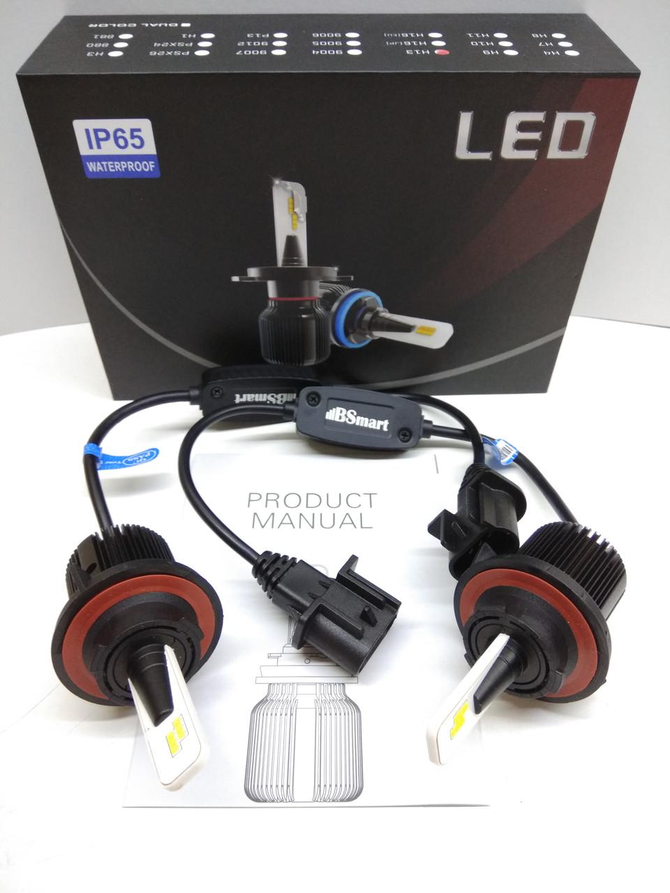LED светодиодные авто лампы M1 CSP Южная Корея, H13, 8000 Люмен, 40Вт, 9-32В