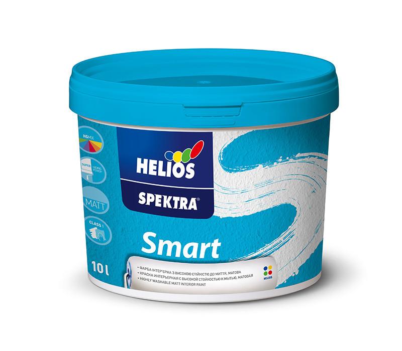 Чрезвычайно стойкая к мытью краска для стен и потолков HELIOS SPEKTRA Smart, 2л