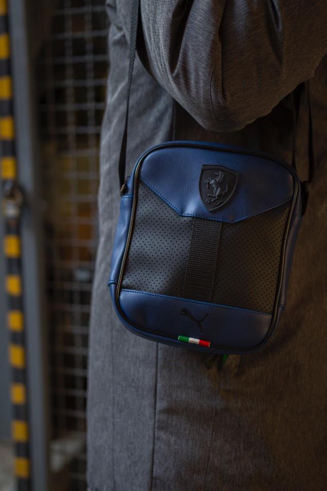 Сумка на плечо, барсетка, мессенджер Пума, стильный, цвет синий, фото 1