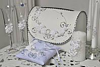 Свадебный набор аксессуаров Bonita в Белом цвете 7 предметов
