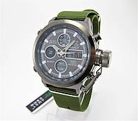 Часы военные водонепроницаемые 10 ATM AMST 3003 (Кварц) Black/Green. ОРИГИНАЛ 100% МОЖНО ПЛАВАТЬ!, фото 1