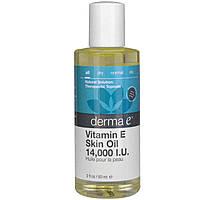Масло для ухода за кожей с витамином Е Derma E 60 мл