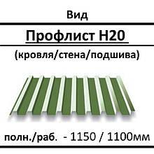 Профнастил кровельный Т-20 0,45 мм Ral 8017 SPK