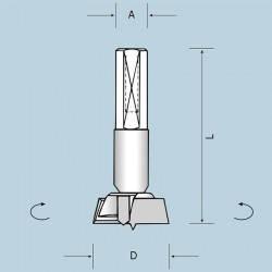 Чашечные сверла, L=57,5 мм