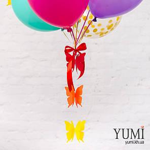 """11 ярких гелиевых шариков для ребенка с гирляндой """"Объёмные бабочки"""", фото 2"""