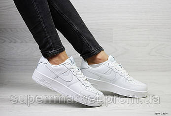Кроссовки в стиле Air Force белые. Код 7309, фото 2