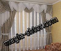 Ламбрекен со шторами для зала, спальни