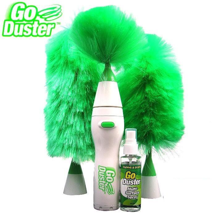 Электрическая щетка-метелка для пыли Гоу Дастер Вращающаяся щетка метелка для удаления пыли Антипыль Go Duster