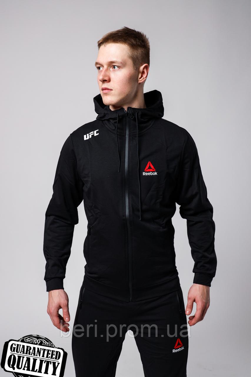 Мужской спортивный костюм Reebok UFC | Рибок | Спортивний костюм Рібок ЮФС (Черный)