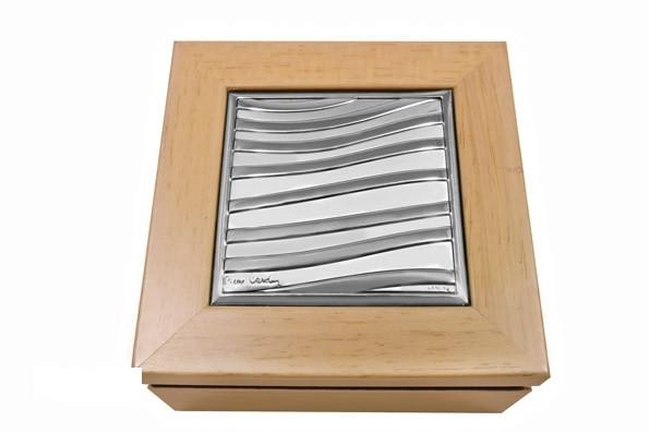 13Q/1A шкатулка ntparnasse 8,5x8,5 см -Pierre Cardin-, цвет-клен