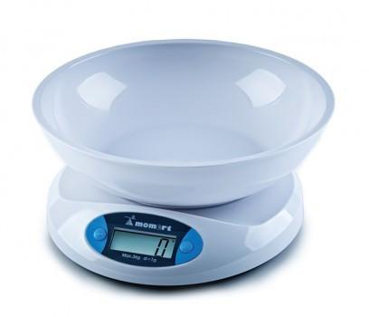 Весы электронные кухонные на пластиковой платформе Момерт (Momert 68001), до 5 кг, Венгрия
