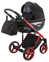 Детская коляска универсальная 2 в 1 Adamex Chantal Polar (Red Chrome) C9 (Адамекс Шанталь, Польша)
