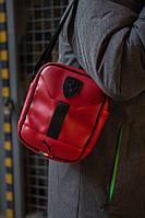 Сумка на плечо, барсетка, мессенджер Пума, стильный, цвет красный, фото 1