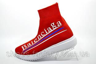 Высокие женские кроссовки в стиле Balenciaga, Red\Красные (Баленсиага)