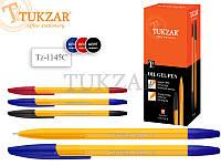 Шариковая ручка с чернилами на масляной основе. Яркий пластиковый корпус; цветной пластиковый колпачок с клипо