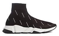 """Мужские Кроссовки Balenciaga Speed Trainer Sock """"Black White"""" - """"Черные Белые"""" (Копия ААА+), фото 1"""