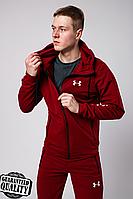Мужской спортивный костюм Under Armour | Андер Армур | Костюм спортивний Андер Армур (Бордовый), фото 1
