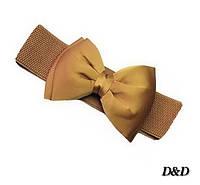 Женский пояс резинка золотисто-коричневый