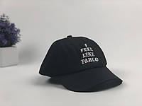 Черная кепка I Feel Like Pablo | логотип вышивка, фото 1