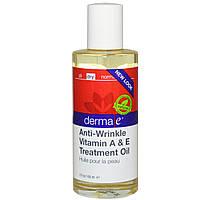 Масло против морщин с витаминами А и Е Derma E 60 мл