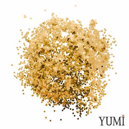 Конфетти круги золото (чешуйки), 3 мм, фото 2