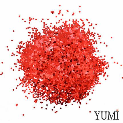 Конфетті дрібне червоне, 3 мм (лусочки), фото 2