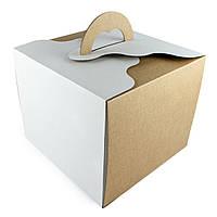 """Упаковка для торта упрочненная """"сердце"""" 250*250*200мм"""