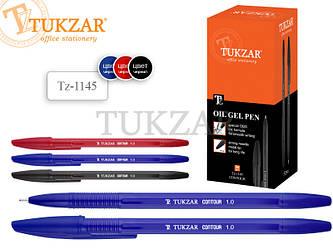 Шариковая ручка с чернилами на масляной основе. Цвет синий.