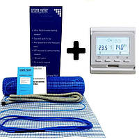 Теплый пол Grand Meyer 2 м2 нагревательный мат 180Вт/м2 + терморегулятор E51