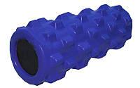 Роллер массажный (Grid Roller) для занятий йогой, пилатесом, фитнесом FI-4246-B (d13см,l 31см,синий)