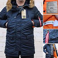 b8357185 Мужская зимняя куртка парка Alpha Industries N-3B Slim-Fit Parka оригинал