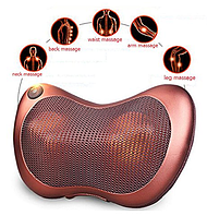Массажная подушка/массажер для спины Massage Pillow в авто с инфракрасным теплом, фото 1