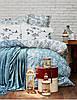Набор постельное белье с покрывалом Karaca Home Mathis turquise евро